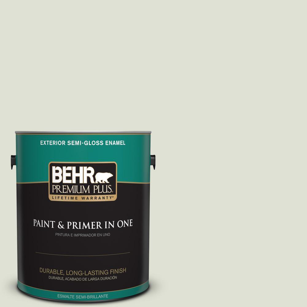1 gal. #PPU10-12 Whitened Sage Semi-Gloss Enamel Exterior Paint