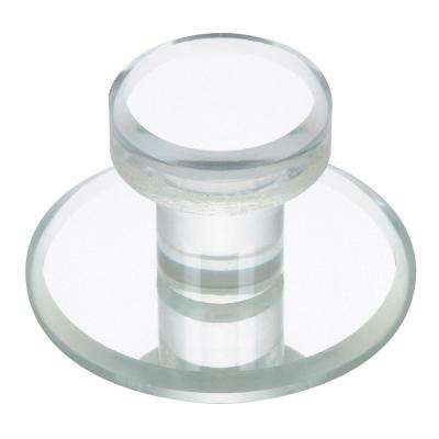 1-7/8 in. (47.6 mm) Contemporary Transparent/Clear and Mirror Effect Round Cabinet Knob
