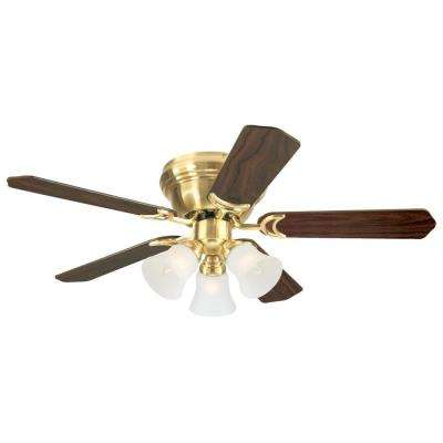 Contempra Trio 42 in. Satin Brass Ceiling Fan