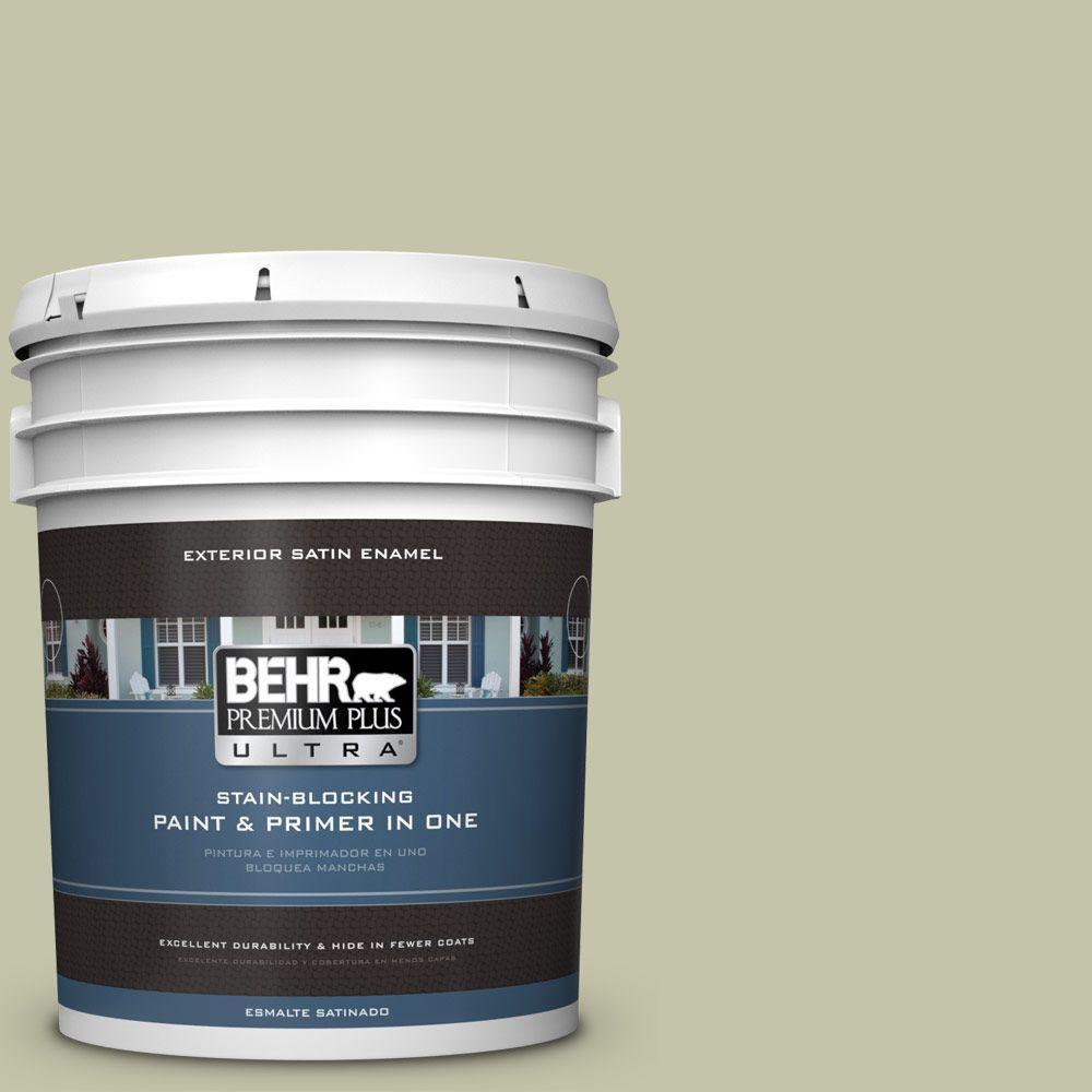 BEHR Premium Plus Ultra 5-gal. #S360-3 Balance Green Satin Enamel Exterior Paint
