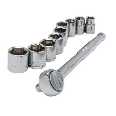 3/8 in. Drive Socket Set, SAE (10- Piece)