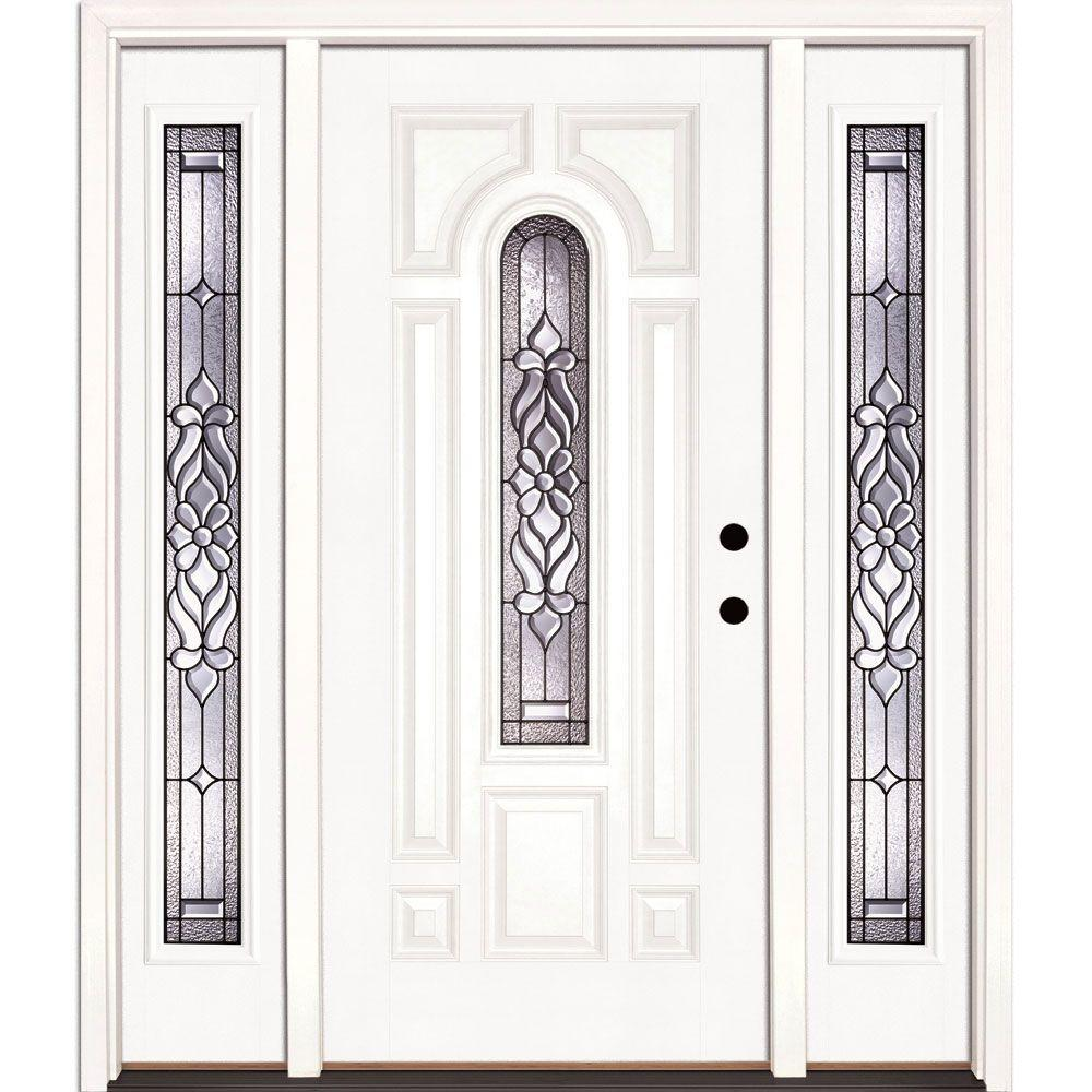 67.5 in.x81.625in.Lakewood Patina Center Arch Lt Unfinished Smooth Left-Hand