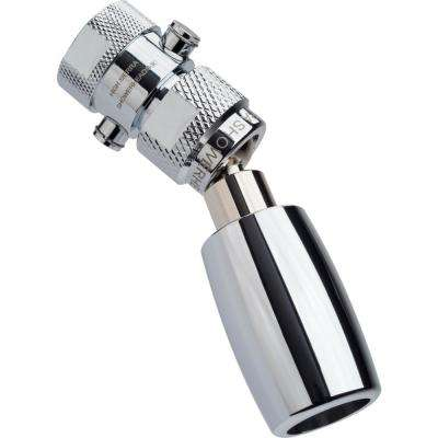 Classic Plus 1-Spray 1 in. 1.5 GPM Low Flow Fixed Shower Head with All Metal Construction and Trickle Valve in Chrome