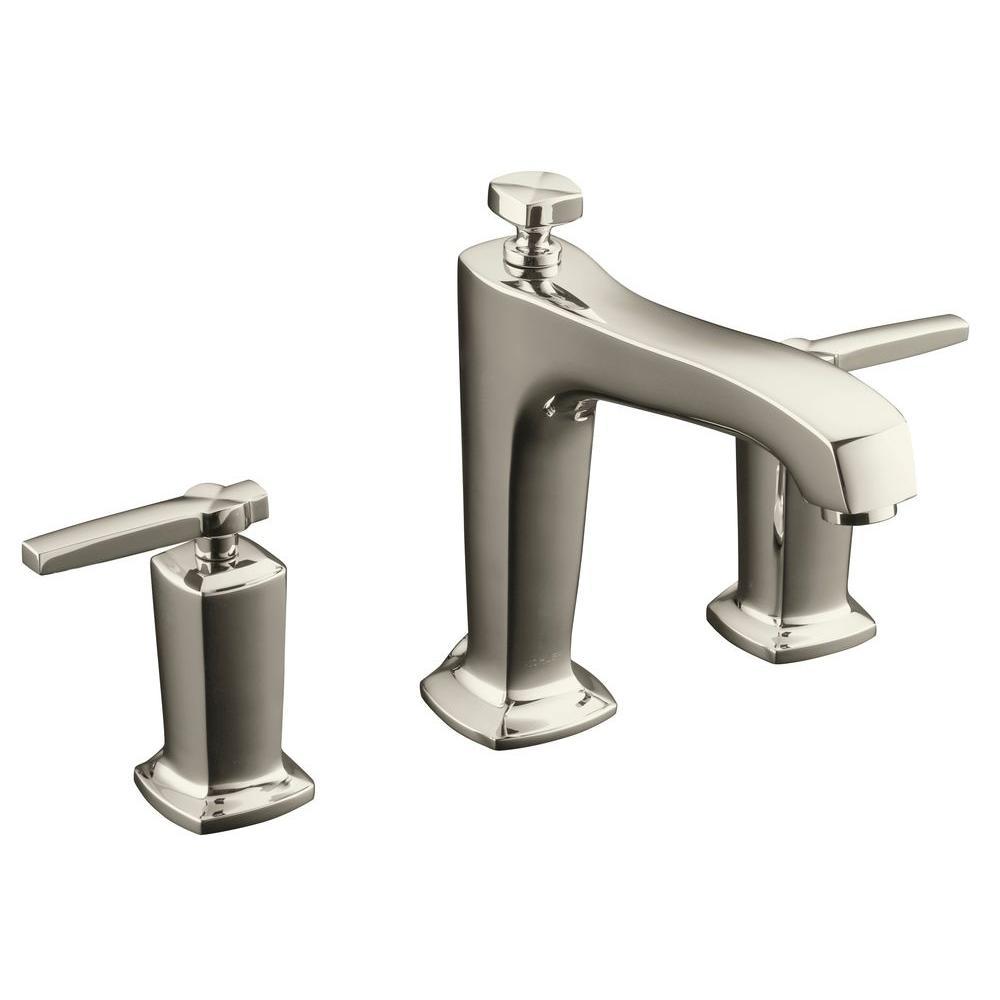 Margaux Single Handle Deck-Mount High-Flow Bath Faucet Trim Kit in Vibrant