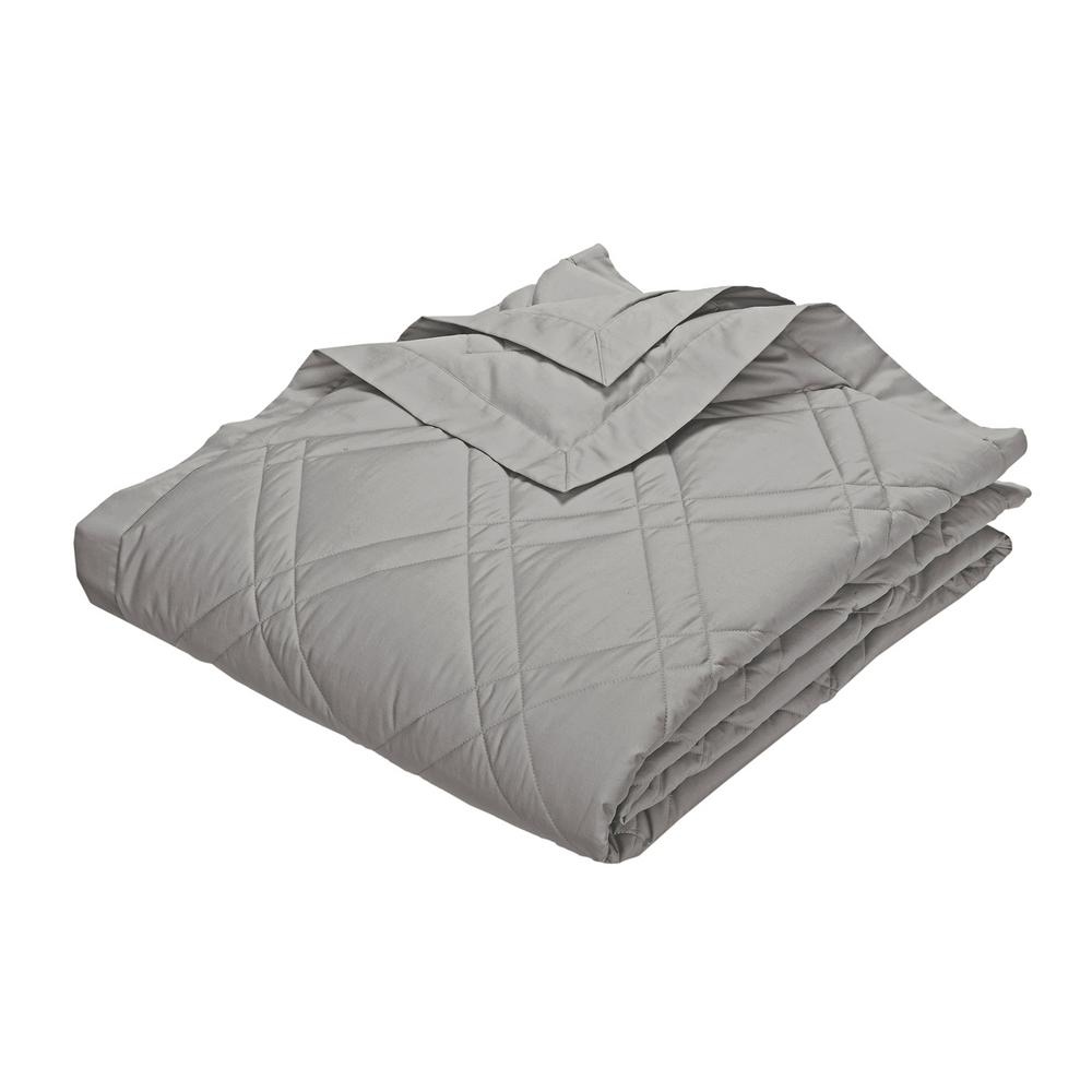 Classic Down Platinum Cotton King Quilted Blanket