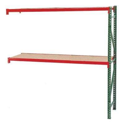 96 in. W x 120 in. H x 36 in. D Steel Bulk Rack Shelving Add-On Unit with Particle Board Decking