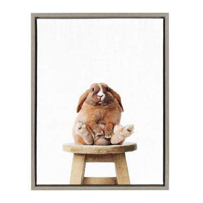"Sylvie ""Pudge"" by Amy Peterson Framed Canvas Wall Art"