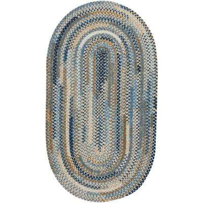 Habitat Blue 9 ft. 2 in. x 13 ft. 2 in. Oval Area Rug