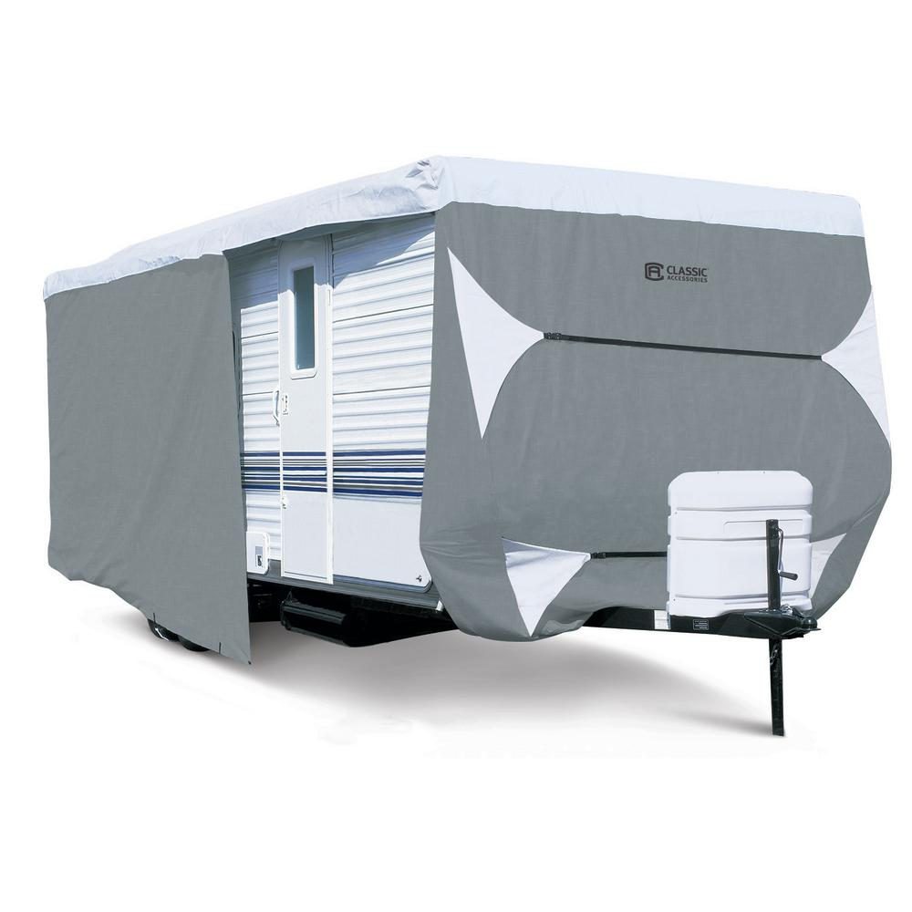 Classic Accessories PolyPro3 294 in  L x 102 in  W x 104 in  H Travel  Trailer Cover