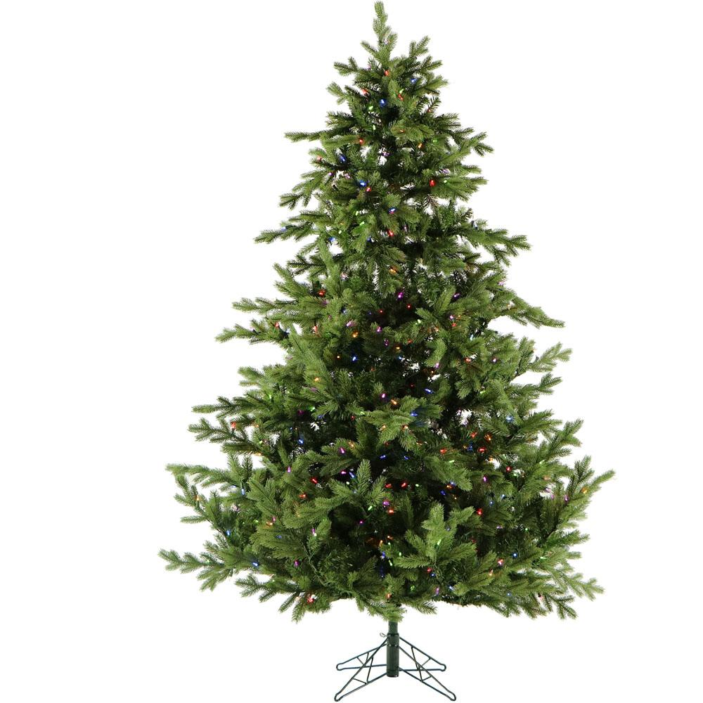 12 ft. Pre-Lit LED Southern Peace Pine Artificial Christmas Tree with