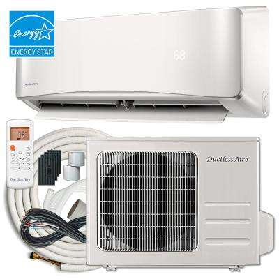 Energy Star 18,000 BTU 1.5 Ton Ductless Mini Split Air Conditioner and Heat Pump Variable Speed Inverter - 220V/60Hz