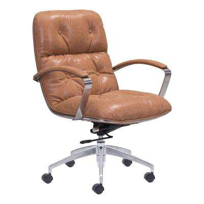 Avenue Vintage Coffee Leatherette Office Chair