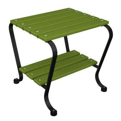 18 in. Black and Lime Patio Side Table