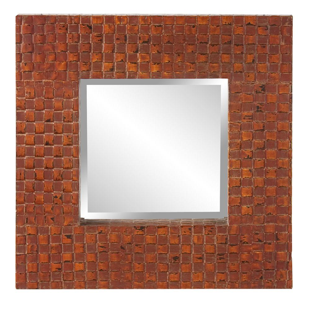 null 23 in. x 23 in. Metal Overlay Framed Mirror-DISCONTINUED