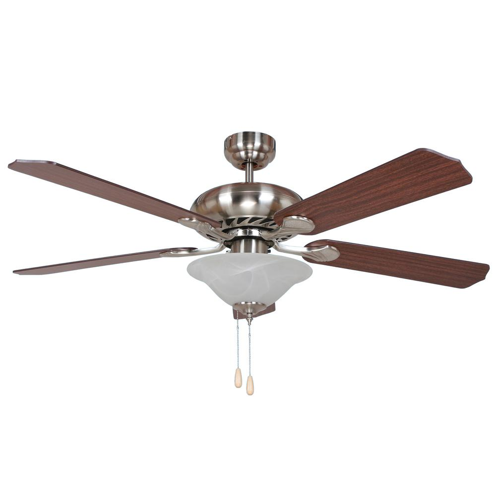Y Decor Bodi 52 In Brushed Nickel Ceiling Fan Bodi Bbn 1 The Home Depot