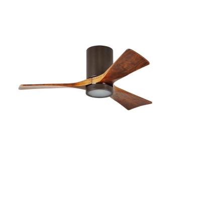 Irene 52 in. LED Indoor/Outdoor Damp Textured Bronze Ceiling Fan with Remote Control, Wall Control