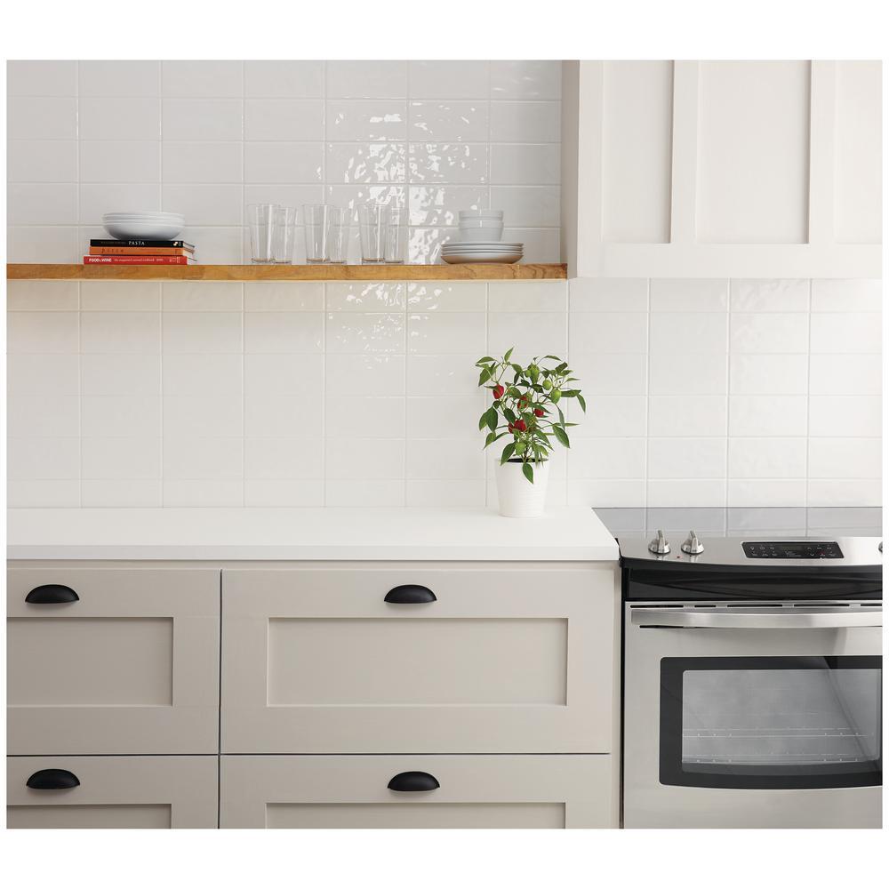 - Marazzi LuxeCraft White 4 In. X 8 In. Glazed Ceramic Subway Wall