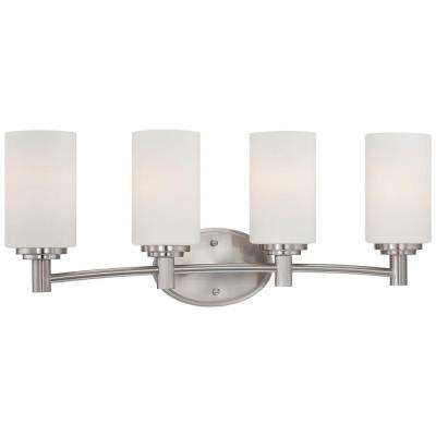 Pittman 4-Light Brushed Nickel Wall Vanity Light