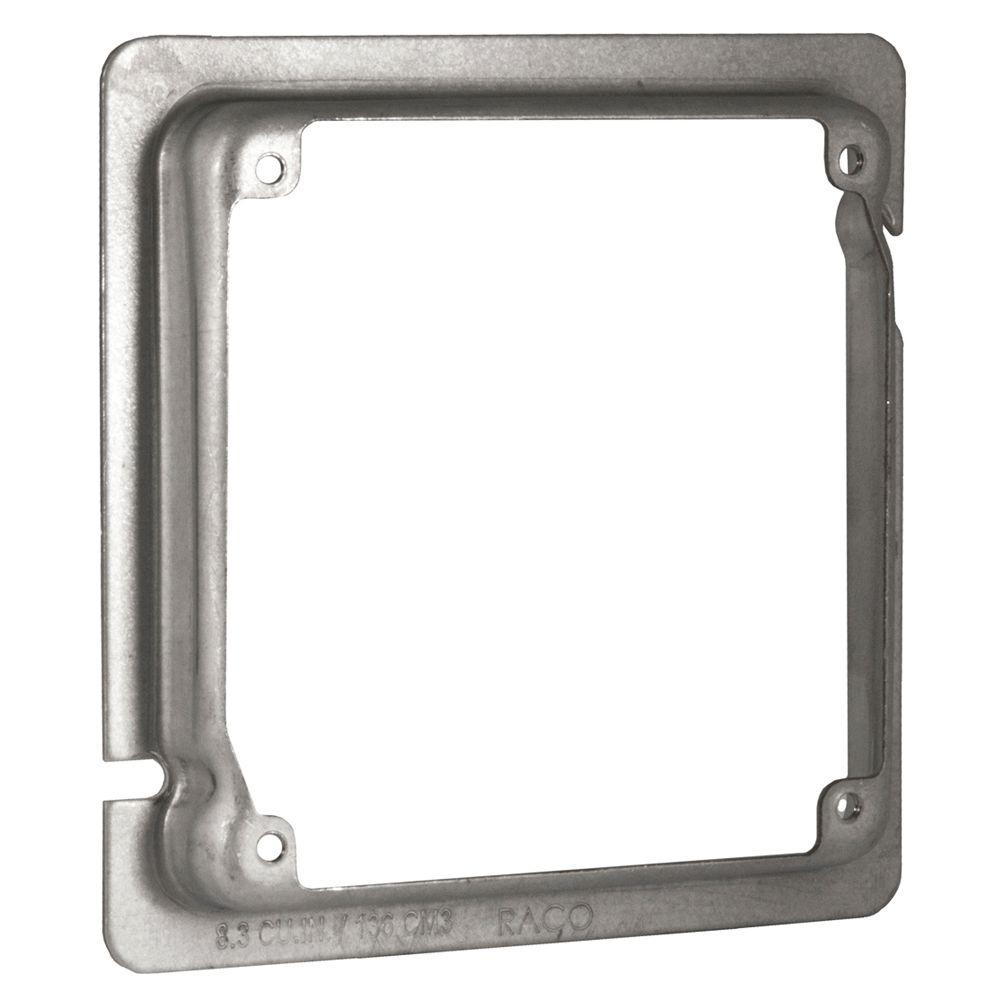 4-11/16 in. x 4 in. Square Adapter Ring, 5/8 in. Raised