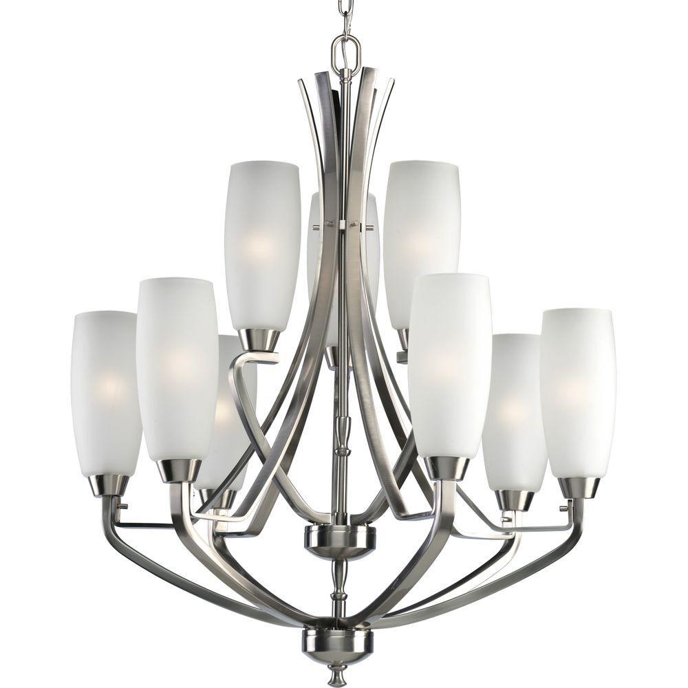 Progress Lighting Wisten Collection 9-Light Brushed Nickel Chandelier