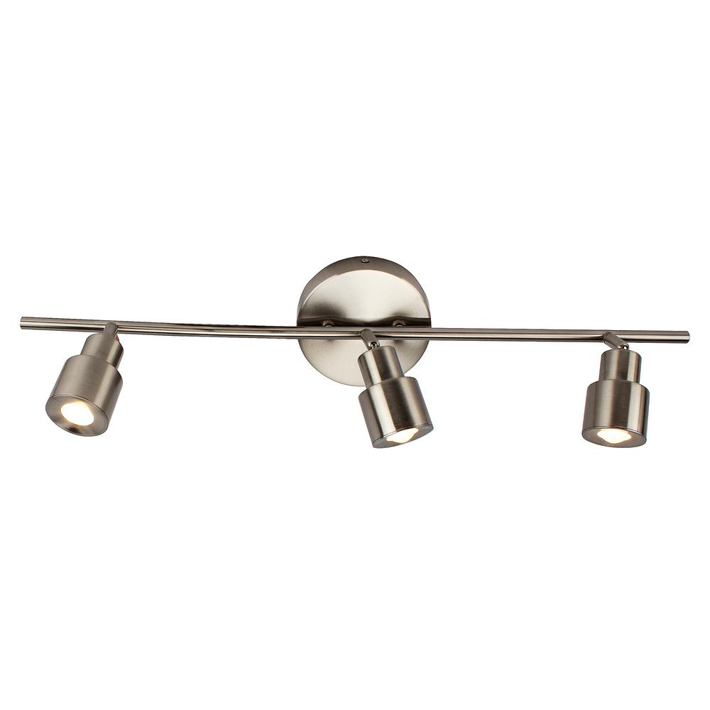 Y decor 6 in 3 light brushed nickel integrated led flush mount ceiling and wall light