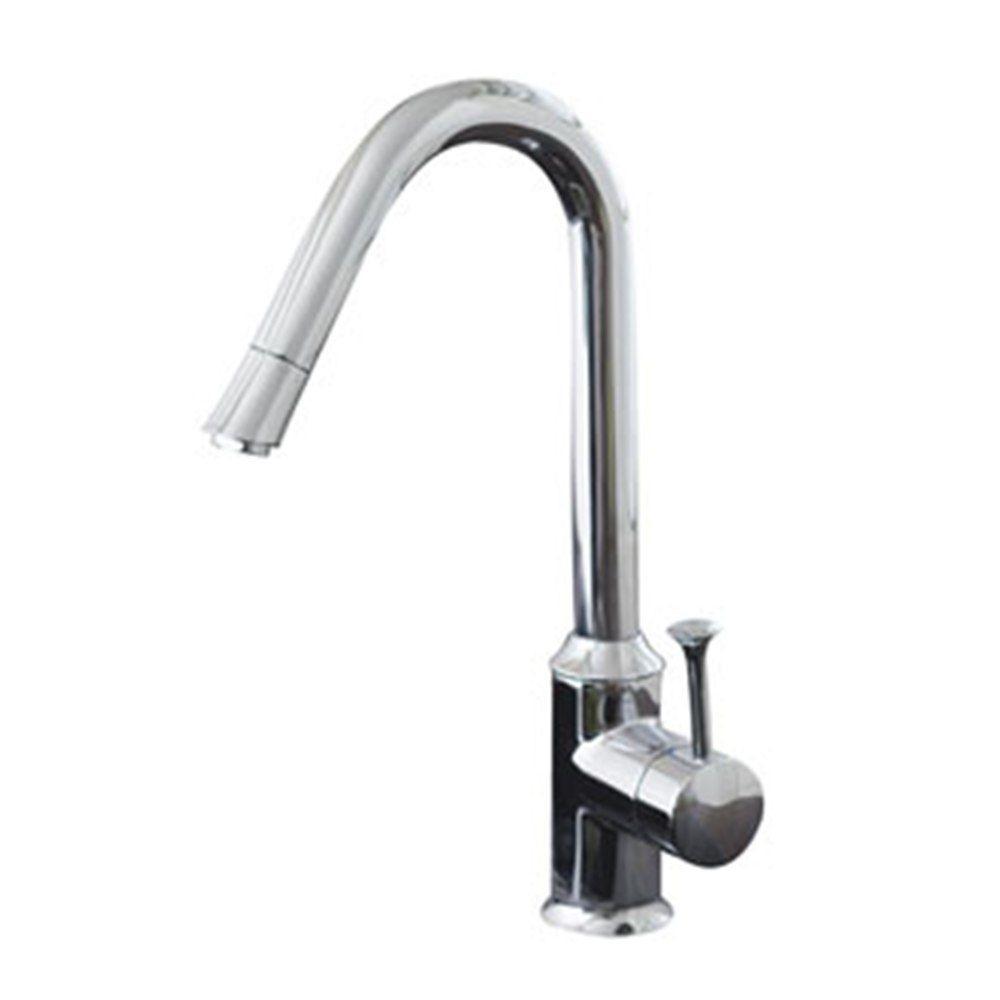 Pekoe Single-Handle Standard Kitchen Faucet in Chrome