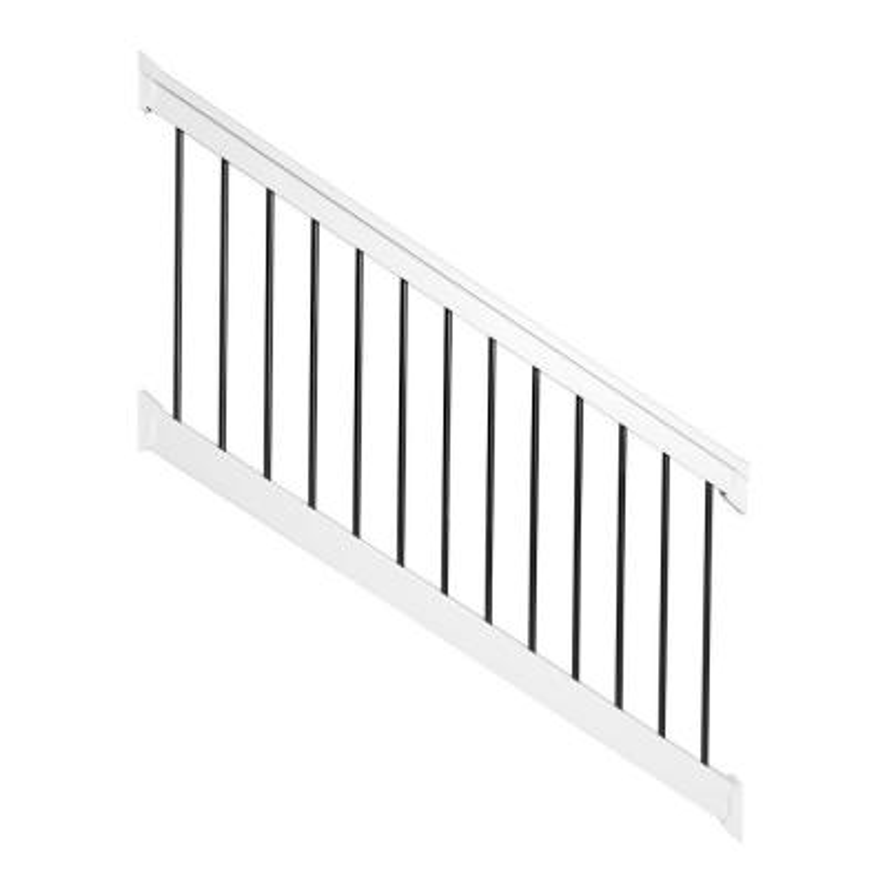Bellaire 3 ft. H x 96 in. W White Vinyl Stair Railing Kit