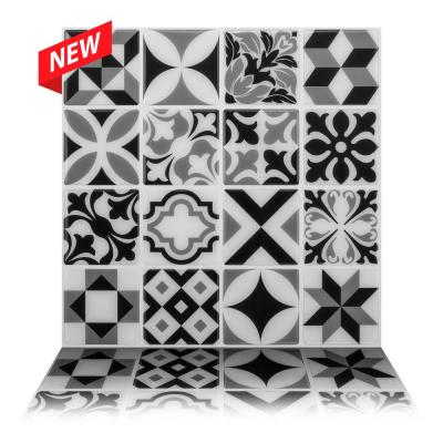 Moroccan Mono 10 in. W x 10 in. H Peel and Stick Decorative Mosaic Wall Tile Backsplash (5 Tiles)