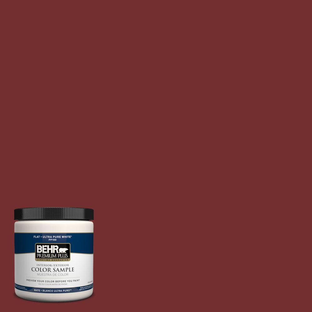 BEHR Premium Plus 8 Oz. #PPH 67 Red Wine Interior/Exterior Paint