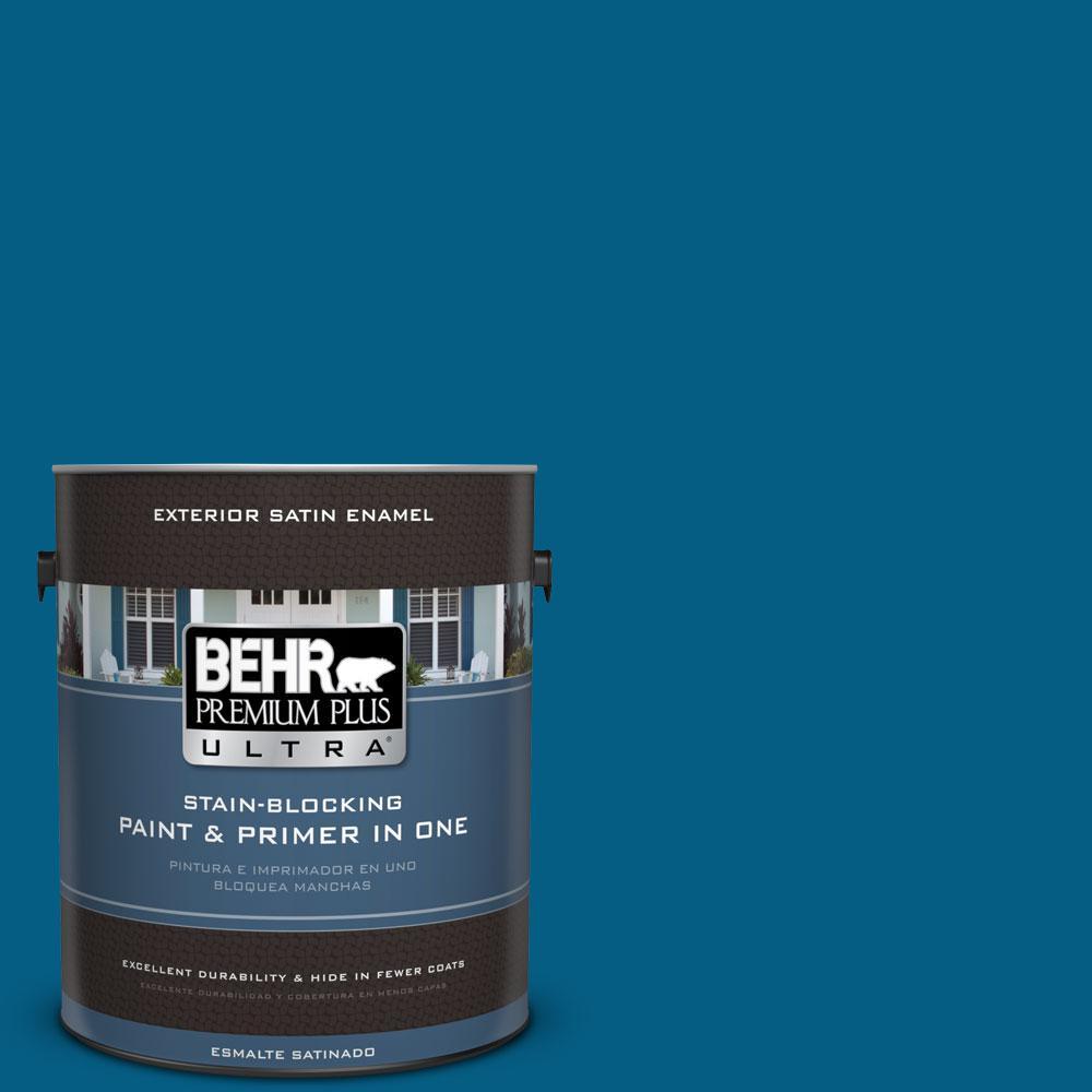 BEHR Premium Plus Ultra 1-gal. #S-H-550 Sapphire Sparkle Satin Enamel Exterior Paint
