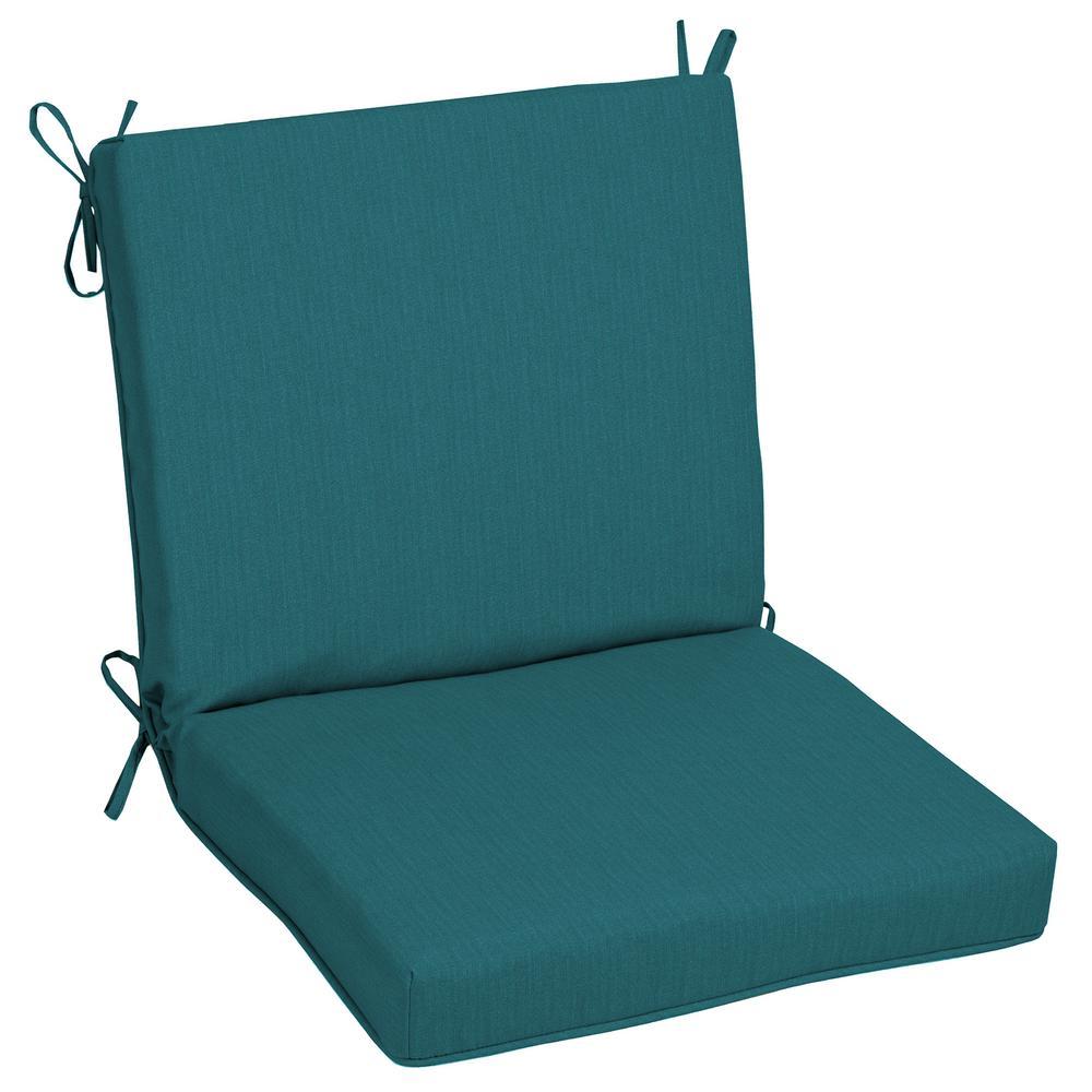 Oak Cliff 22 x 40 Sunbrella Spectrum Peacock Mid Back Outdoor Dining Chair Cushion