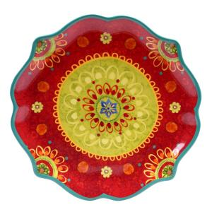 The Tunisian Sunset Collection Scalloped Platter by