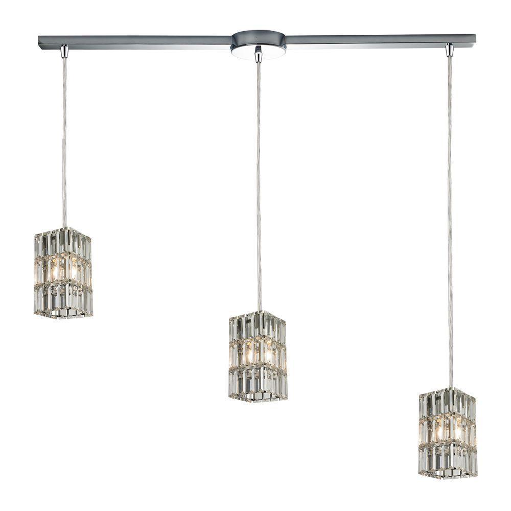 Hgtv Home Cassandra Blown Glass Mini Pendant Modern: Titan Lighting Twister 3-Light Polished Chrome Ceiling