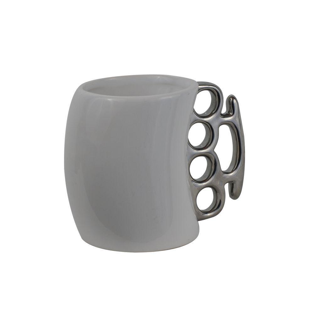 11 oz. White Knuckle Duster Ceramic Coffee Mug