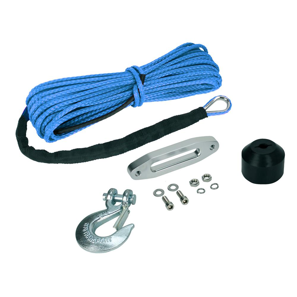 The Devils Helper Complete Synthetic ATV Winch Rope Kit in Blue