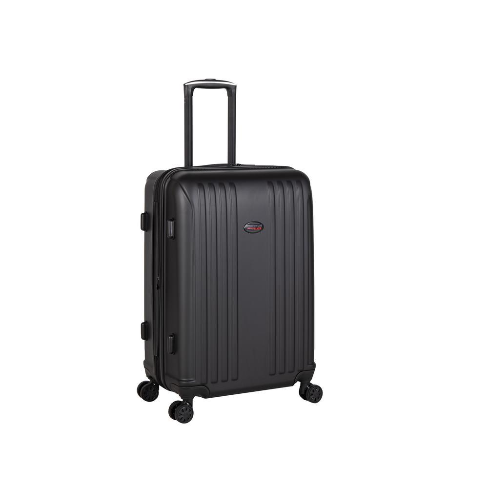 Moraga 26 in. Black 8-Wheel Hard Side Spinner Luggage