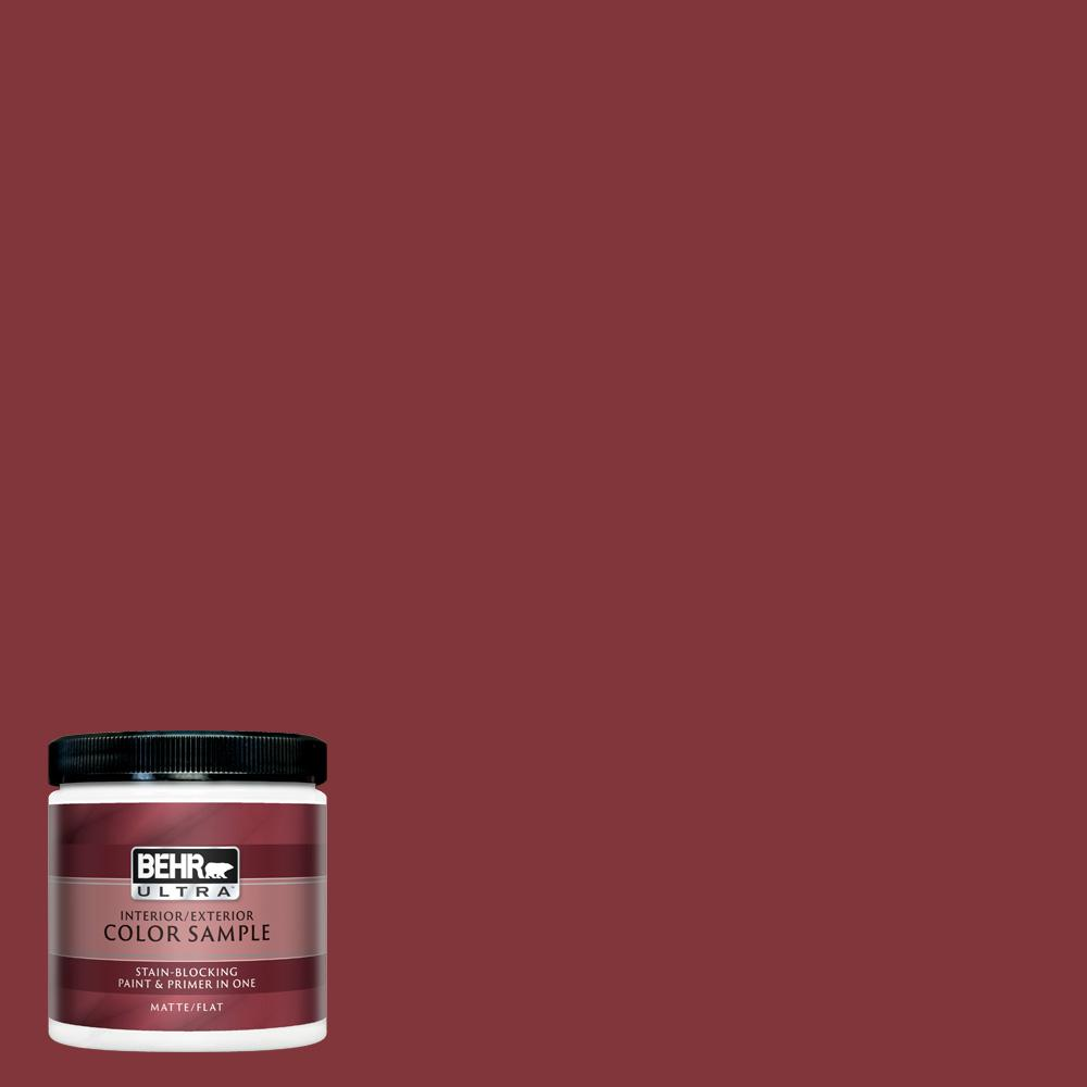 Pleasing Behr Ultra 8 Oz S H 170 Red Brick Matte Interior Exterior Paint And Primer In One Sample Home Interior And Landscaping Ologienasavecom