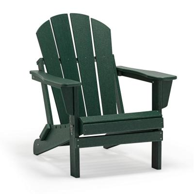 Addison Dark Green Outdoor Folding Plastic Adirondack Chair