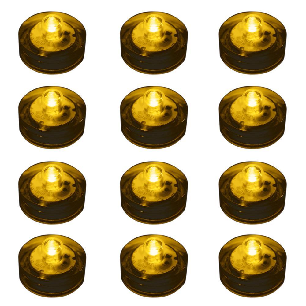 Lumabase Amber Submersible LED Lights (Box of 12)
