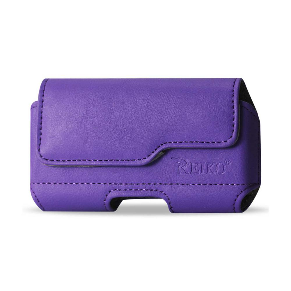 Medium Horizontal Leather Holster in Purple