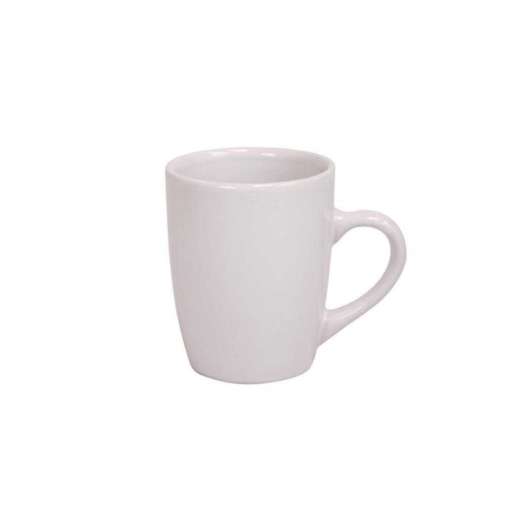 Home Basics 13 oz. White Ceramic Mug