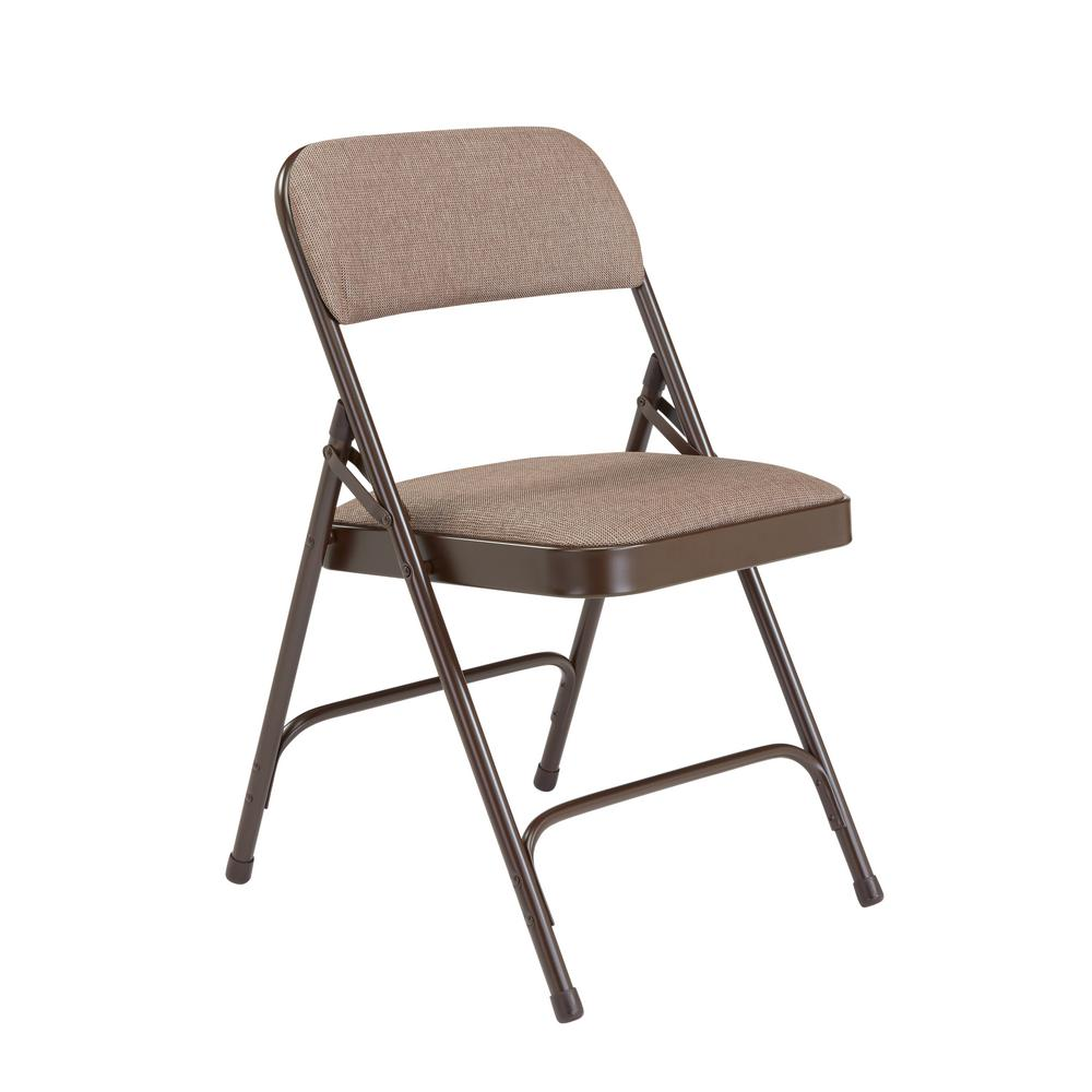 Of Set Chairs 4 Brownfoldingdining: National Public Seating Brown Fabric Padded Seat Stackable