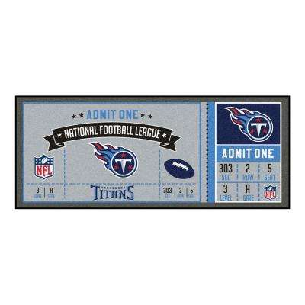 NFL - Tennessee Titans 30 in. x 72 in. Indoor Ticket Runner Rug