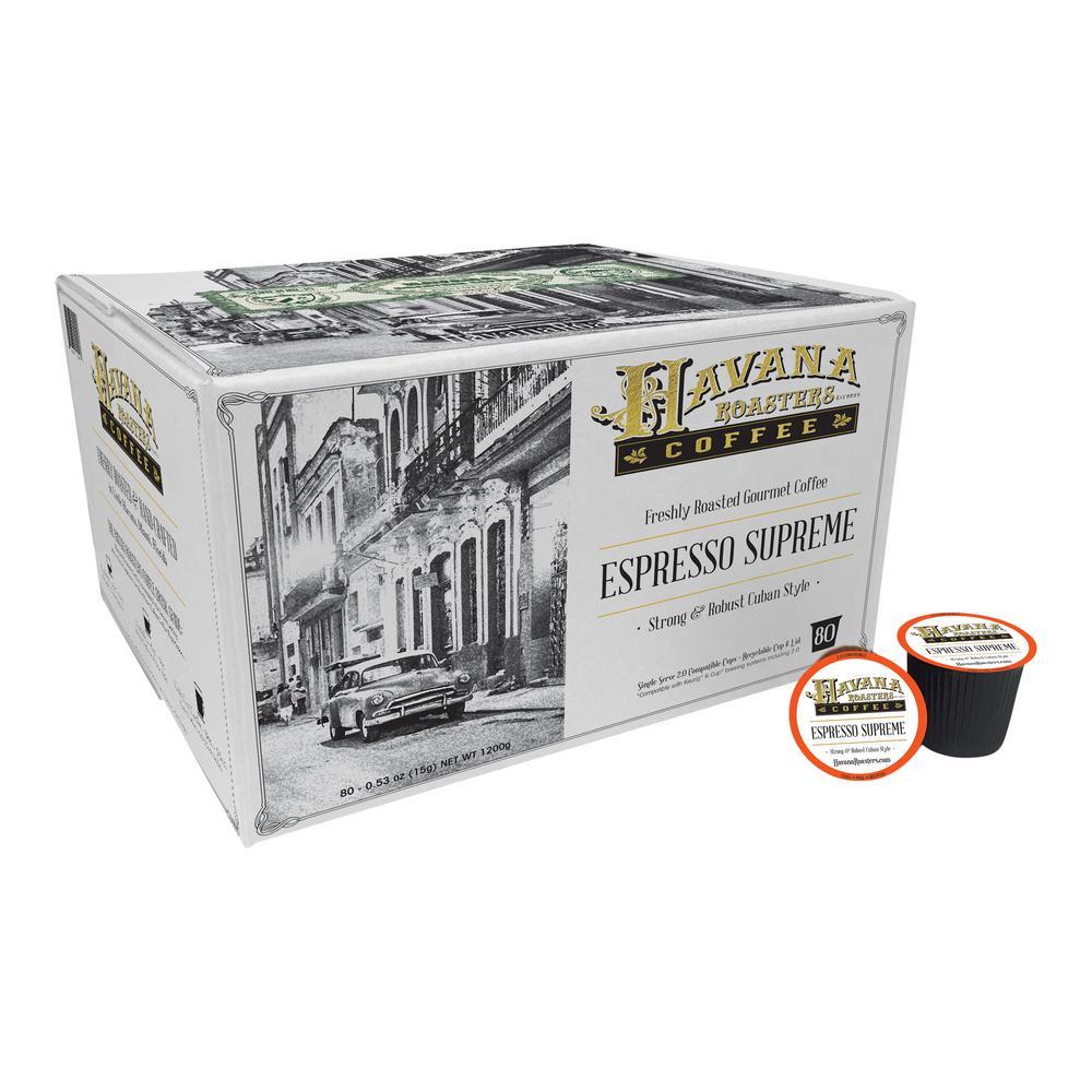 Espresso Supreme 80 K-Cups Coffee (1-Box)