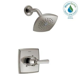 Delta Ashlyn 1-Handle Pressure Balance Shower Faucet Trim Kit in Stainless (Valve Not Included) by Delta