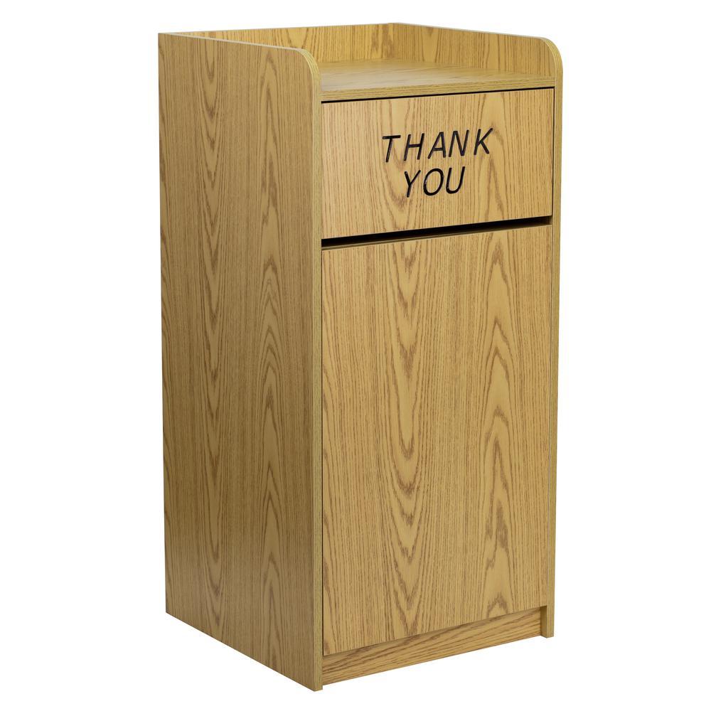 Oak Trash Receptacles