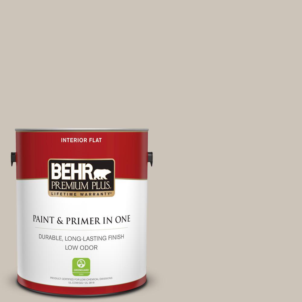 Behr Premium Plus 1 Gal 720c 3 Wheat Bread Flat Low Odor Interior