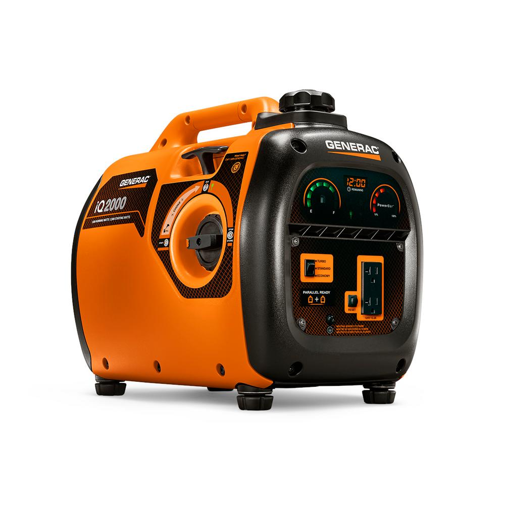 Generac iQ 2,000-Watt Ultra Quiet Gasoline Powered Inverter Portable Generator