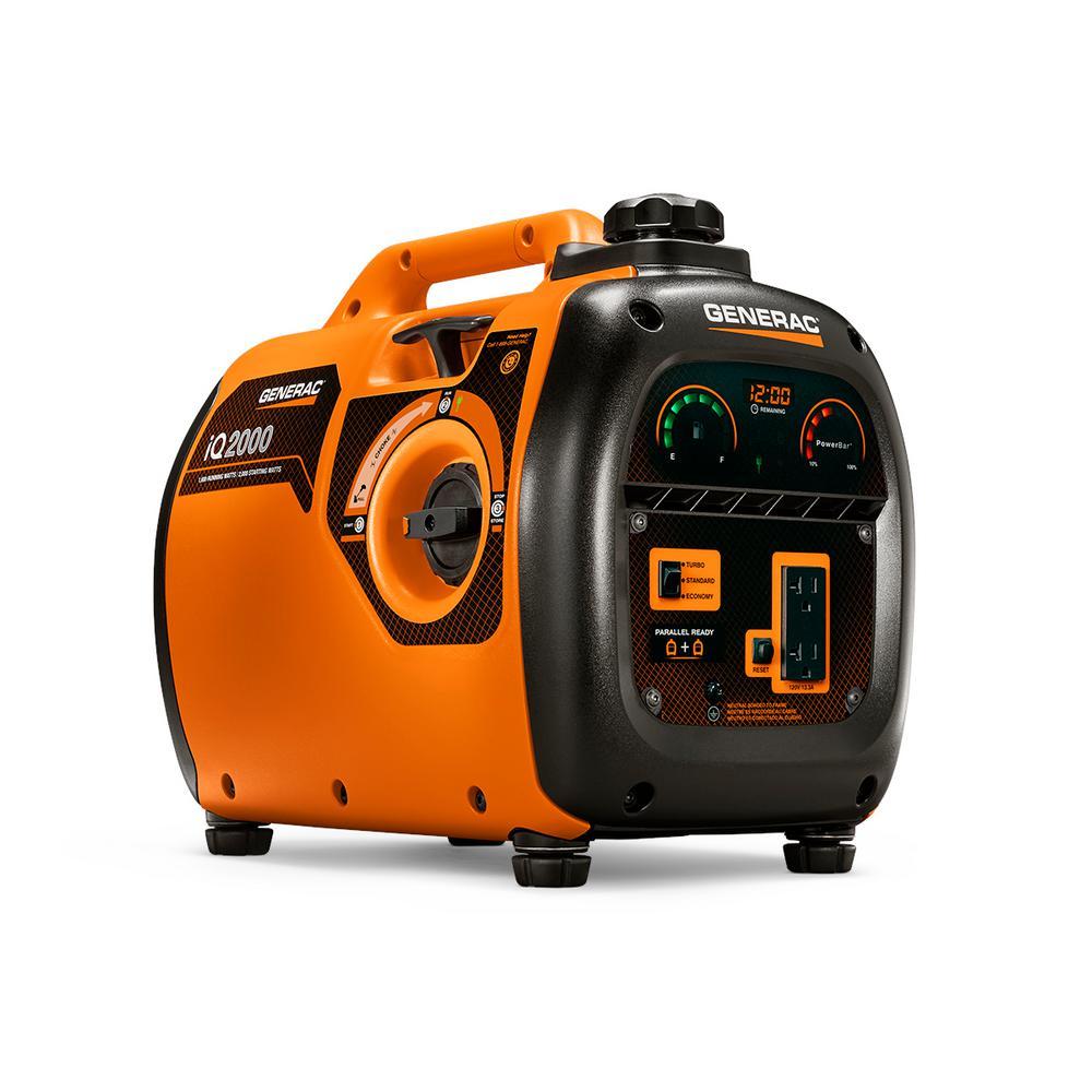 Generac iQ 2,000-Watt Ultra Quiet Gasoline Powered Inverter Portable Generator by Generac