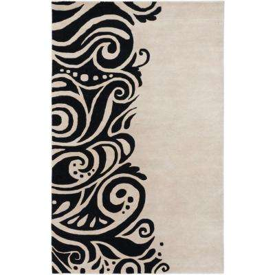 Impressions Black, Light Grey 5 ft. x 8 ft. Area Rug